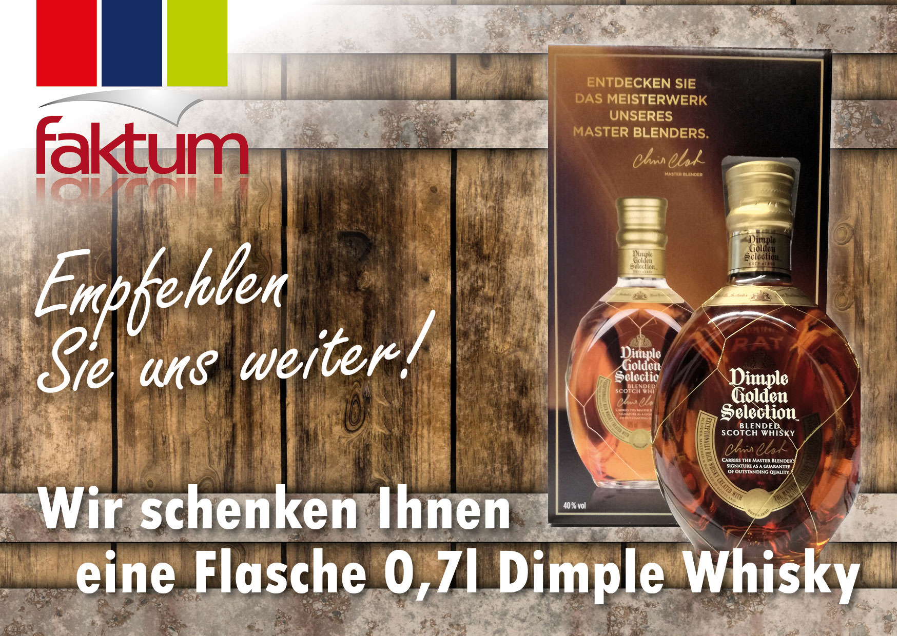 Neukundenwerbung Dimple Whisky